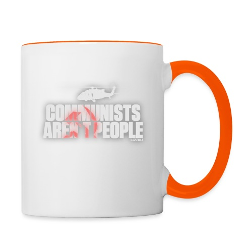 Communists aren't People (White) - Contrasting Mug