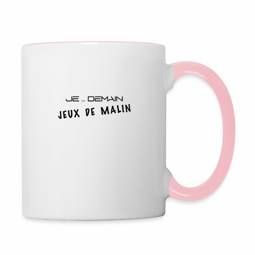 JE ... DEMAIN Jeux de Malin - Mug contrasté