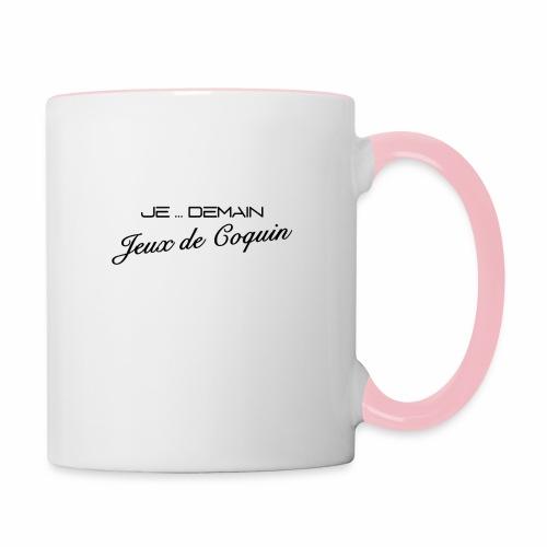 JE ... DEMAIN Jeux de Coquin - Mug contrasté