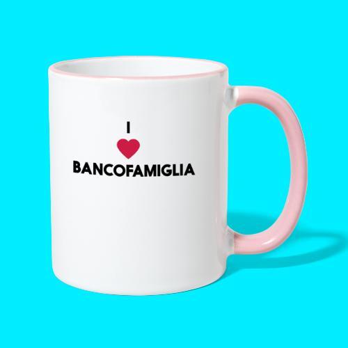 BANCOFAMIGLIA CuoreNera - Tazze bicolor