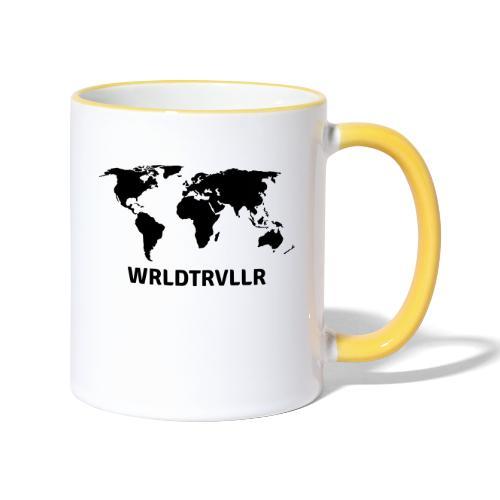 Worldtraveller - Tasse zweifarbig