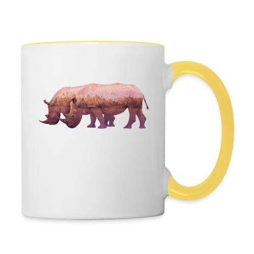 Nashorn Alpen - Tasse zweifarbig