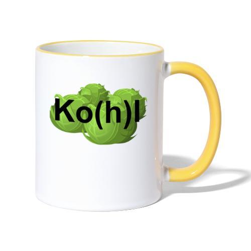 Ko(h)l - Tasse zweifarbig