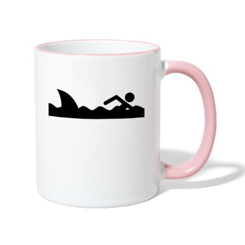 Haifischfutter - Tasse zweifarbig