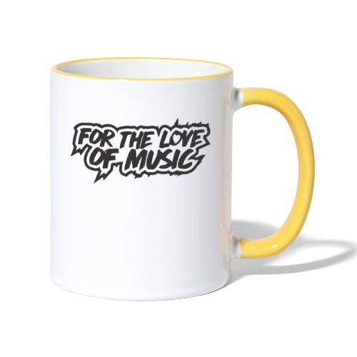 FOR THE LOVE OF MUSIC - Contrasting Mug