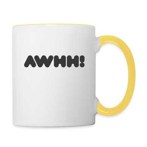 awhh - Tasse zweifarbig