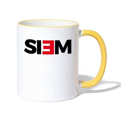 siem_zwart - Mok tweekleurig