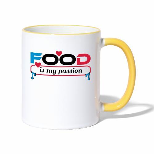 Food is my passion - Tasse zweifarbig