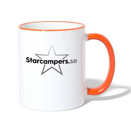Starcampers centrerad logo - Tvåfärgad mugg