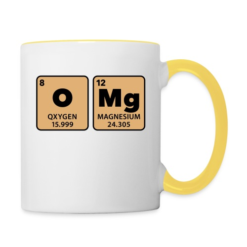periodic table omg oxygen magnesium Oh mein Gott - Contrasting Mug