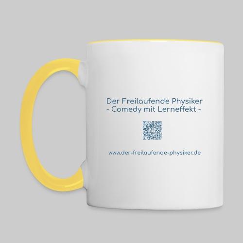 Der Freilaufende Physiker Merchendise - Tasse zweifarbig