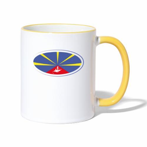 Paddle Reunion Flag - Mug contrasté