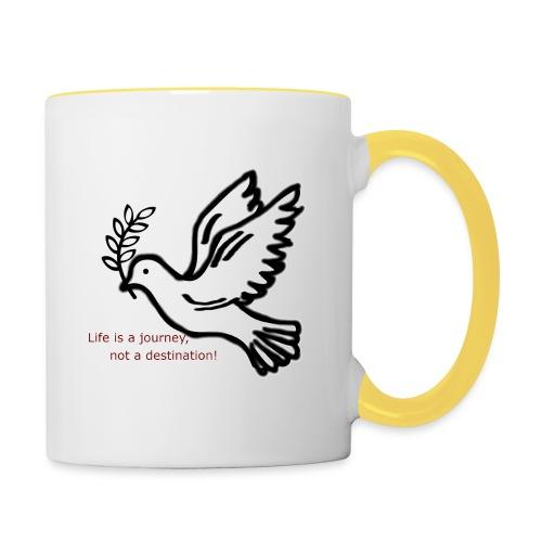 Friede - Tasse zweifarbig