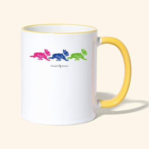 frenchies multicolor - Mug contrasté