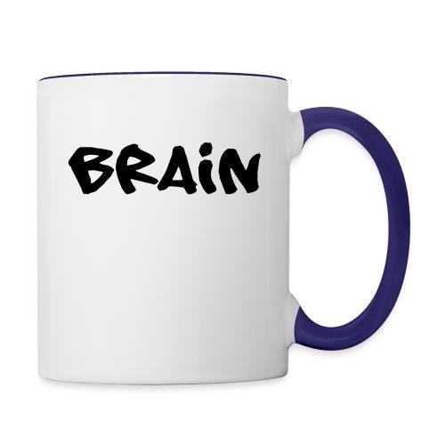brain schriftzug - Tasse zweifarbig