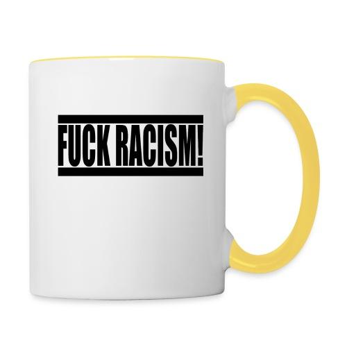 #FuckRacism - Tvåfärgad mugg