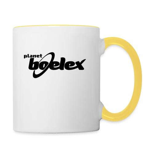 Planet Boelex logo black - Contrasting Mug