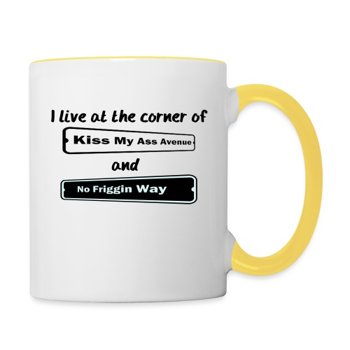 I_LIVE_AT_THE_CORNER_CUT_-2- - Contrasting Mug