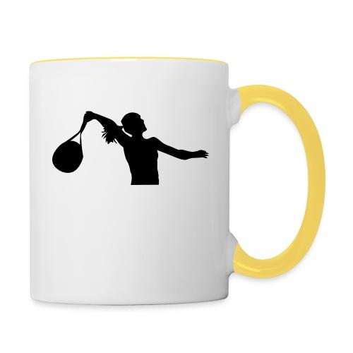 tennis silouhette 6 - Mug contrasté