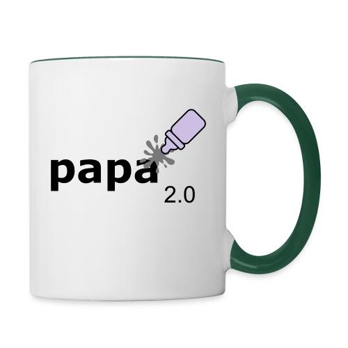 Papa_2-0 - Tasse zweifarbig