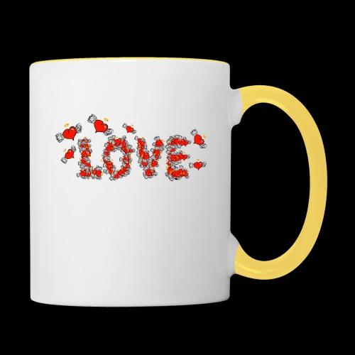 Flying Hearts LOVE - Contrasting Mug