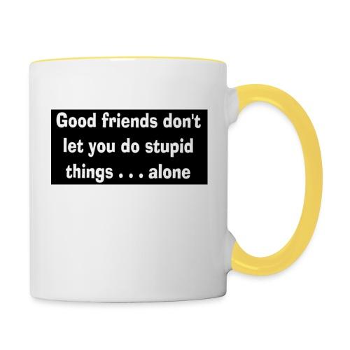 good friends - Contrasting Mug