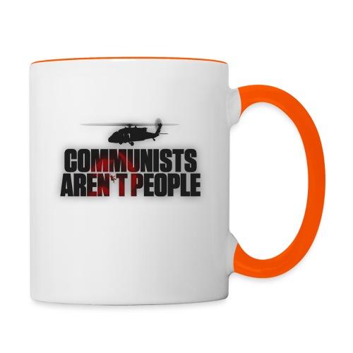 Communists aren't People (No uzalu logo) - Contrasting Mug