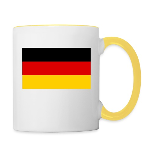 2000px Flag of Germany svg - Tasse zweifarbig