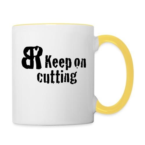 keep on cutting 1 - Tasse zweifarbig