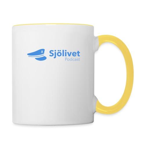 Sjölivet podcast - Svart logotyp - Tvåfärgad mugg