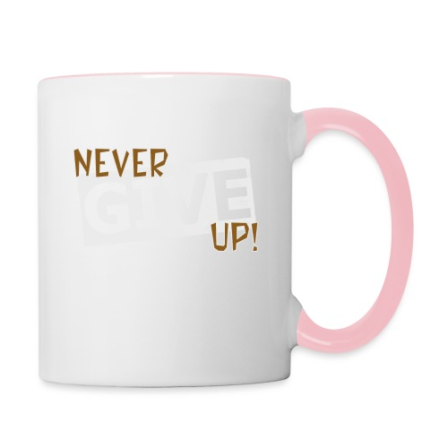 Never Give Up - Kaksivärinen muki