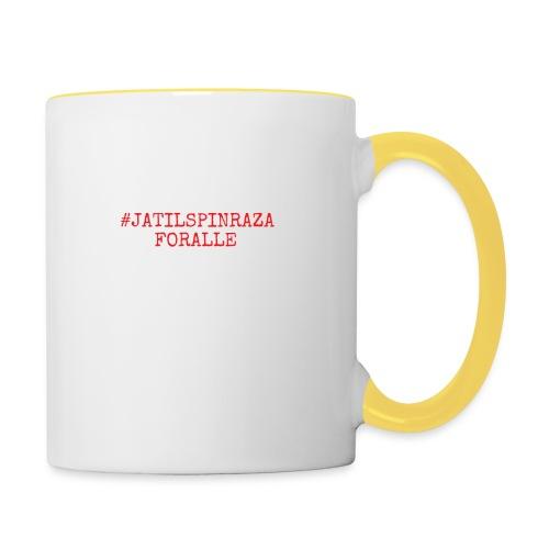 #jatilspinrazaforalle - rød - Tofarget kopp