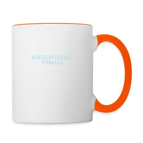 #jatilspinrazaforalle - lysblå - Tofarget kopp