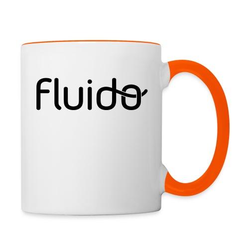 fluidologo_musta - Kaksivärinen muki