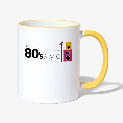 80s - Taza en dos colores