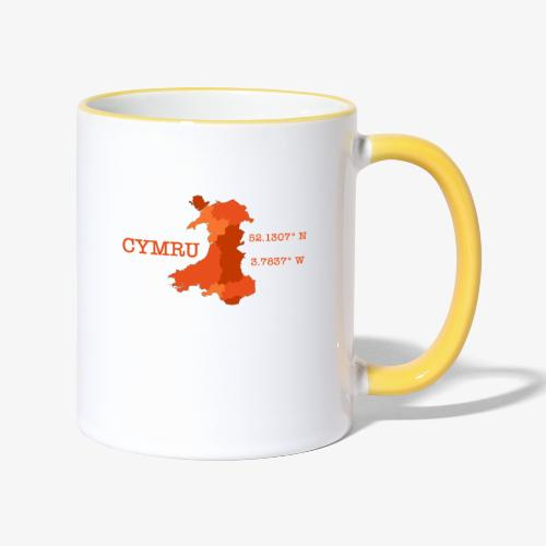 Cymru - Latitude / Longitude - Contrasting Mug