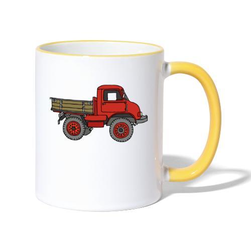 Roter Lastwagen, LKW, Laster - Tasse zweifarbig