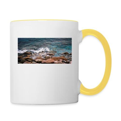 Handy Hülle mit Wellenmotiv - Tasse zweifarbig