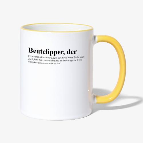 Beutelipper - Wörterbuch - Tasse zweifarbig