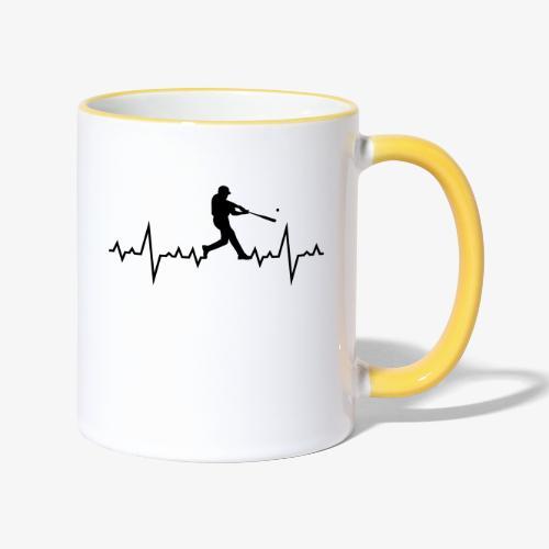 Haert line Baseball - Mug contrasté