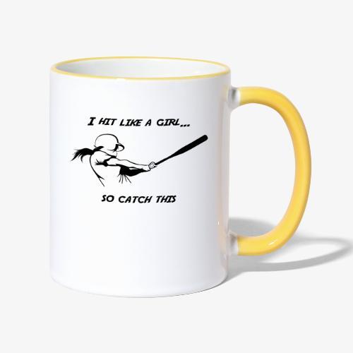 Hit like a girl - Mug contrasté