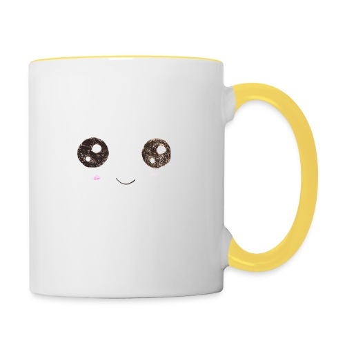 Kids for Kids: Smiling Face - Tasse zweifarbig