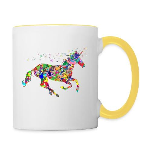Einhorn - Tasse zweifarbig