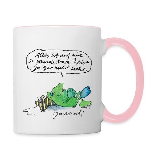 Janosch Auf Wunderbare Weise Nicht Wahr - Tasse zweifarbig