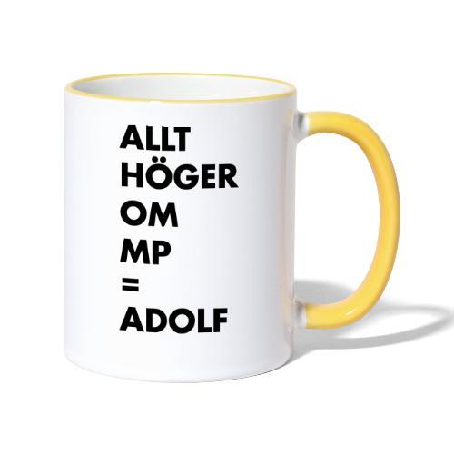 Allt höger om MP = Adolf - Tvåfärgad mugg