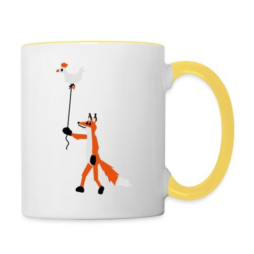 Fuchs und Henne - Tasse zweifarbig