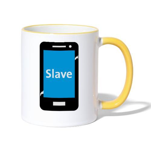 Slave to my phone 1 - Mok tweekleurig