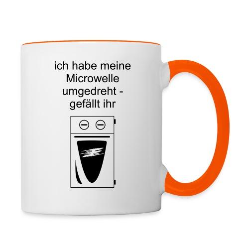 Microwelle umgedreht :-) - Tasse zweifarbig