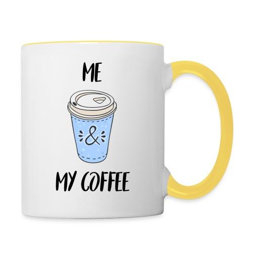 Me and my coffeee - Tasse zweifarbig