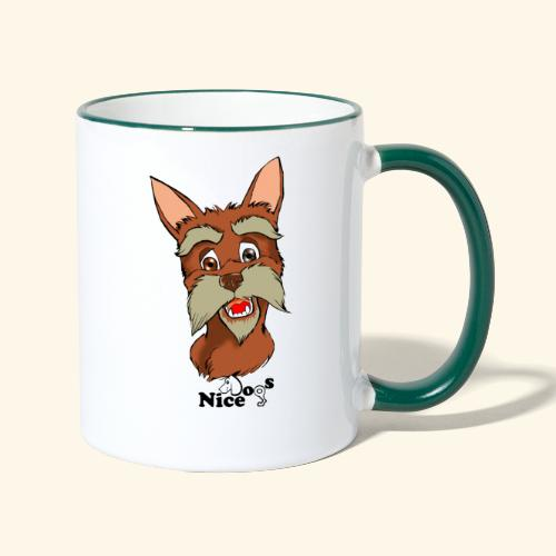 Nice Dogs schnauzer 2 - Tazze bicolor
